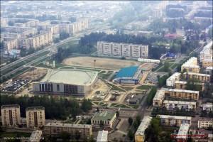 Стадион Ермак с высоты птичьего полета