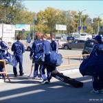 Команда Динамо прилетела на игру  с Ермаком