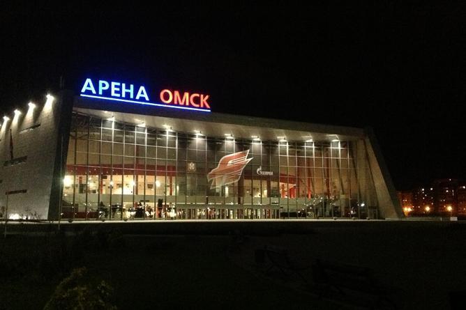 Новый фасад «Арены Омск»