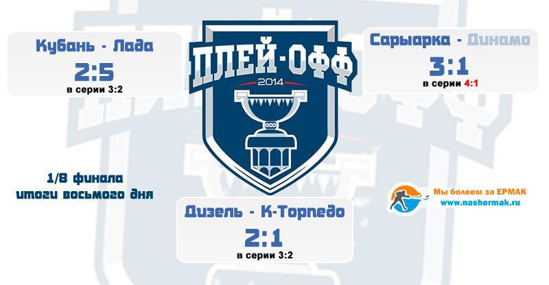 Итоги восьмого дня 1/8 плей-офф ВХЛ