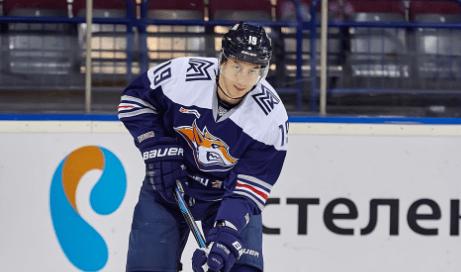Первая шайба Ильи Берестенникова в КХЛ