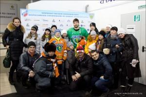 Савва Селезнев с болельщиками