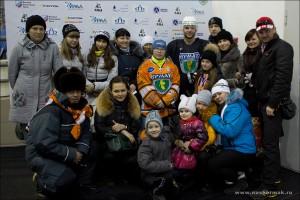 Антон Никоноров с болельщиками