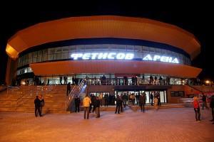 "2Вид на Ледовый дворец ""Фетисов-Арена"" во Владивостоке. width="
