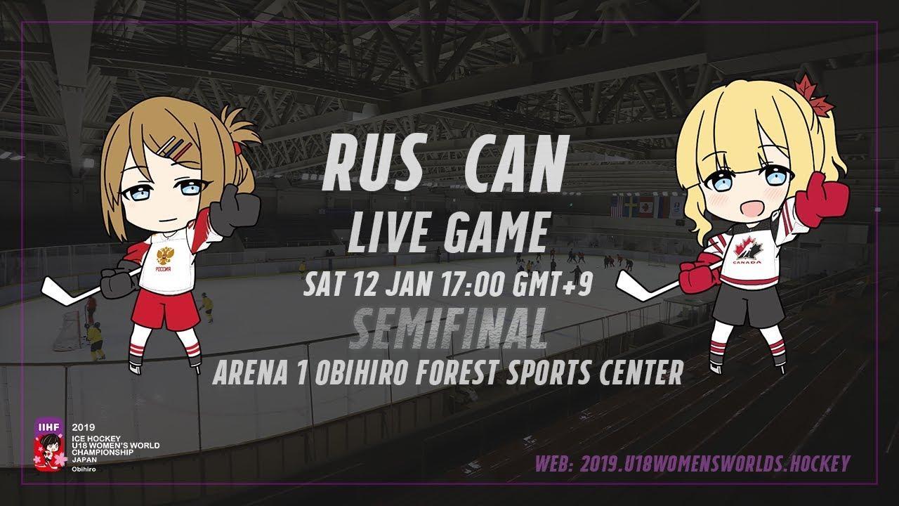 Россия - Канада 1/2 финала женского ЧМ-2019 прямая трансляция